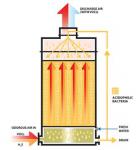 Figure 1. Scheme of a bioscrubber (1)
